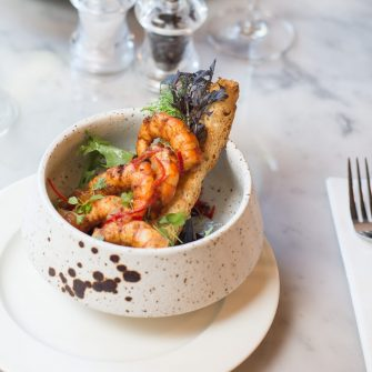 Chilli Prawns at The Green restaurant