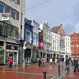 View of Grafton ST. Dublin city