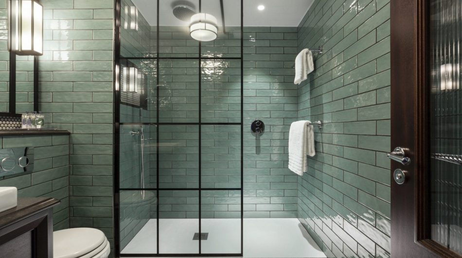 The Green Bathroom Shower